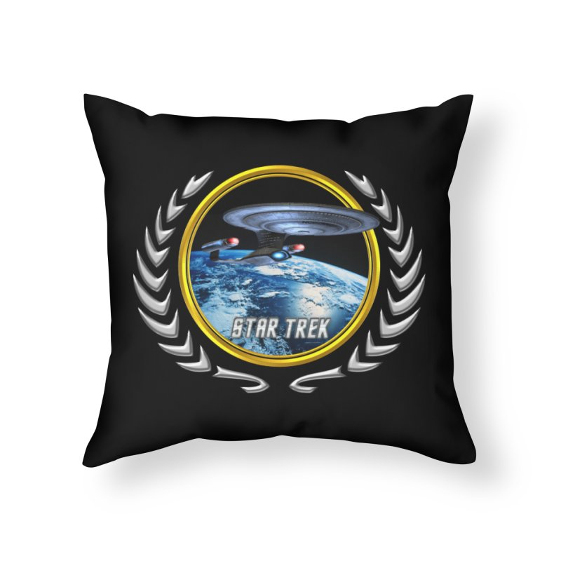 Star trek Federation of Planets Enterprise D Home Throw Pillow by ratherkool's Artist Shop
