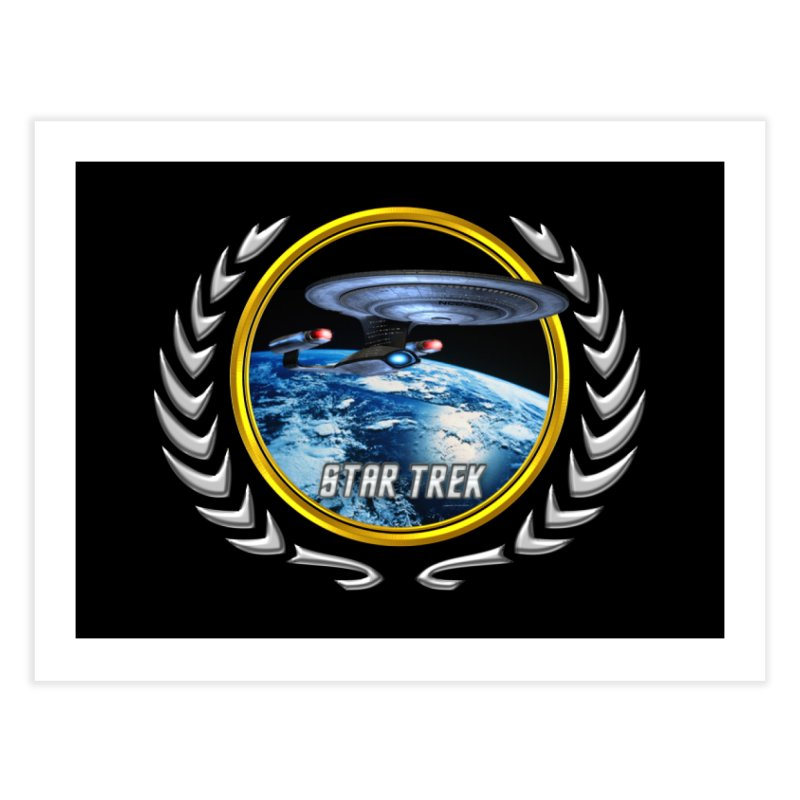 Star trek Federation of Planets Enterprise D Home Fine Art Print by ratherkool's Artist Shop