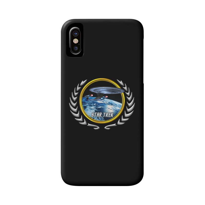 Star trek Federation of Planets Enterprise D Accessories Phone Case by ratherkool's Artist Shop