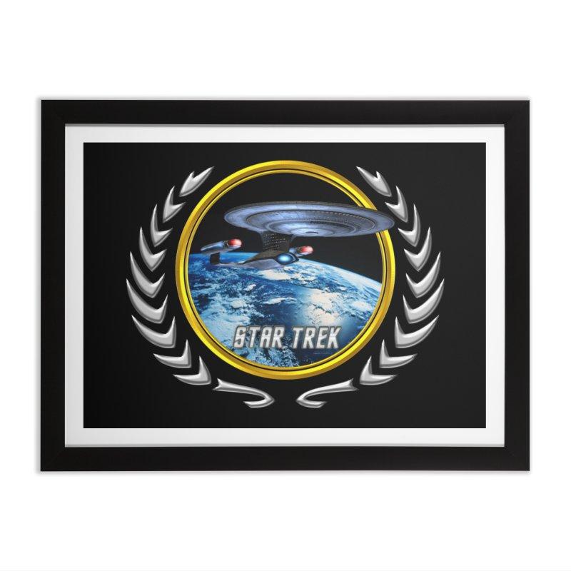 Star trek Federation of Planets Enterprise D Home Framed Fine Art Print by ratherkool's Artist Shop