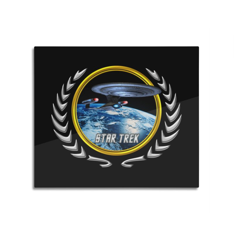 Star trek Federation of Planets Enterprise D Home Mounted Aluminum Print by ratherkool's Artist Shop
