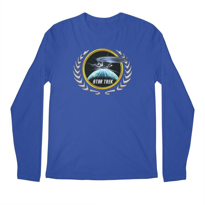 Star trek Federation of Planets Enterprise D 2 Men's Longsleeve T-Shirt by ratherkool's Artist Shop