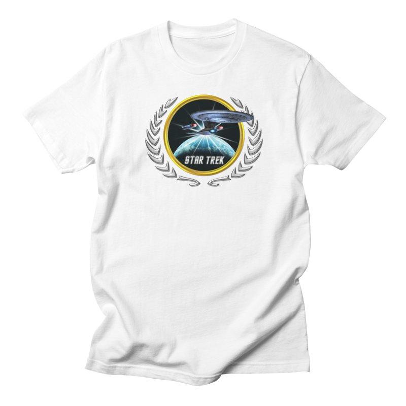 Star trek Federation of Planets Enterprise D 2 Men's T-Shirt by ratherkool's Artist Shop