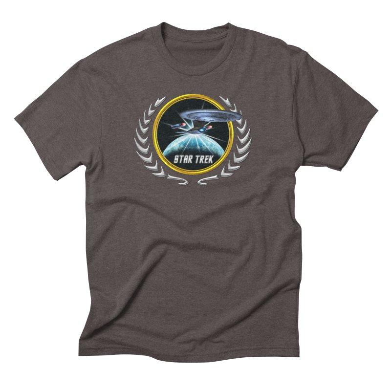 Star trek Federation of Planets Enterprise D 2 Men's Triblend T-Shirt by ratherkool's Artist Shop