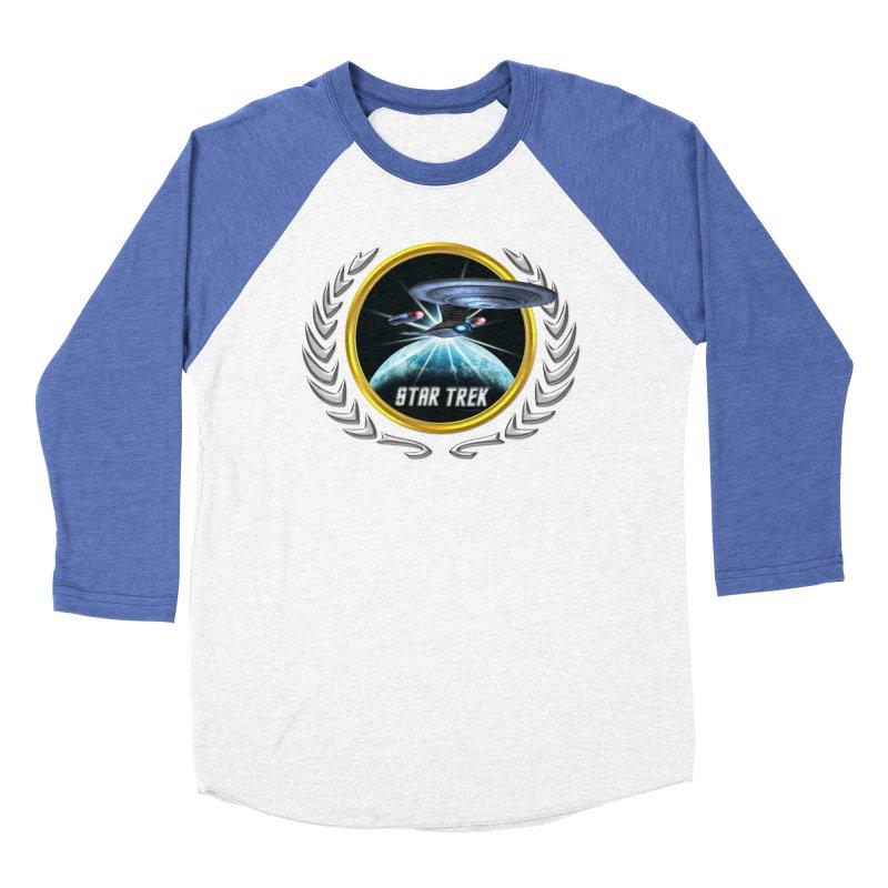 Star trek Federation of Planets Enterprise D 2 Men's Baseball Triblend T-Shirt by ratherkool's Artist Shop