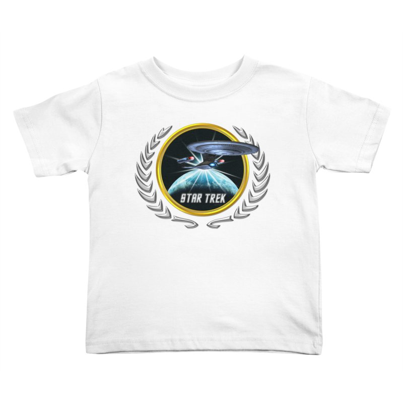 Star trek Federation of Planets Enterprise D 2 Kids Toddler T-Shirt by ratherkool's Artist Shop