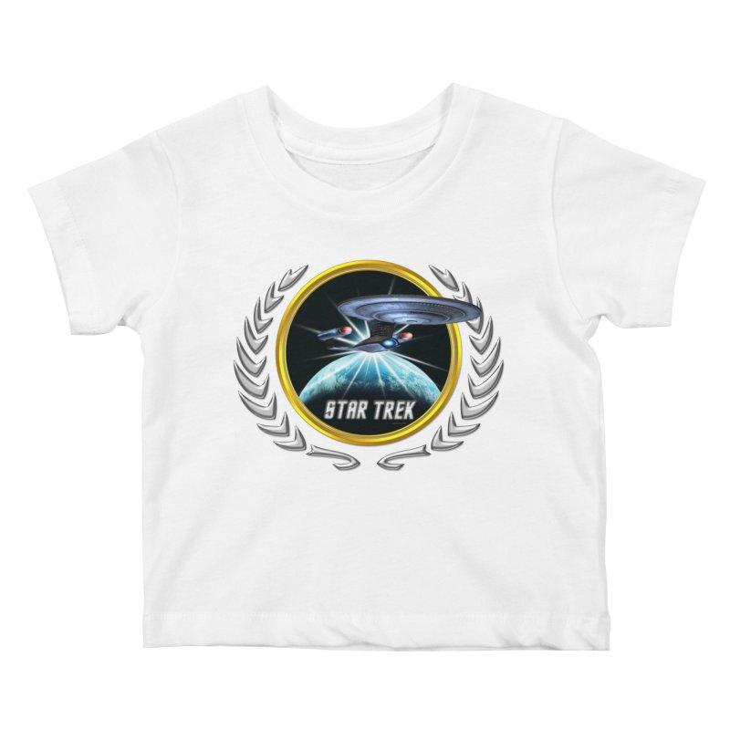 Star trek Federation of Planets Enterprise D 2 Kids Baby T-Shirt by ratherkool's Artist Shop