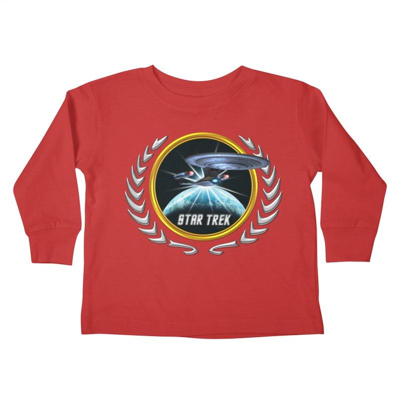 Star trek Federation of Planets Enterprise D 2 Kids Toddler Longsleeve T-Shirt by ratherkool's Artist Shop