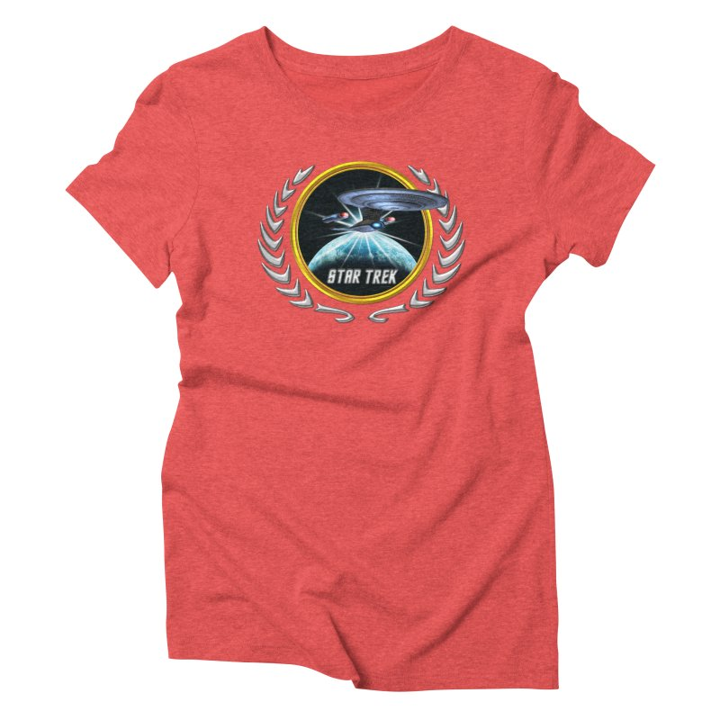 Star trek Federation of Planets Enterprise D 2 Women's Triblend T-Shirt by ratherkool's Artist Shop