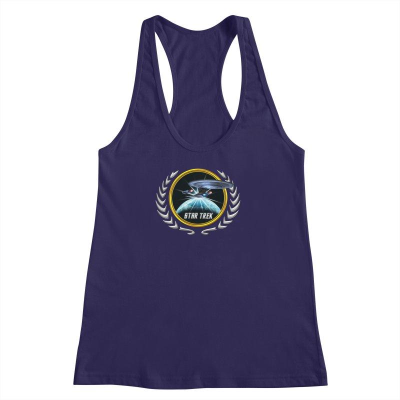 Star trek Federation of Planets Enterprise D 2 Women's Racerback Tank by ratherkool's Artist Shop