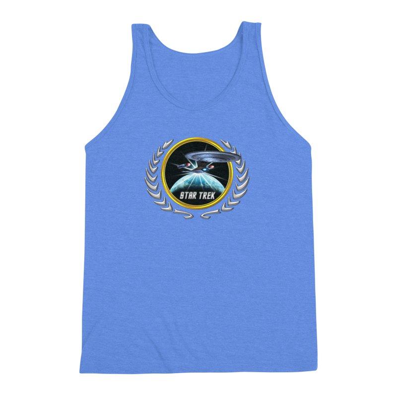Star trek Federation of Planets Enterprise D 2 Men's Triblend Tank by ratherkool's Artist Shop