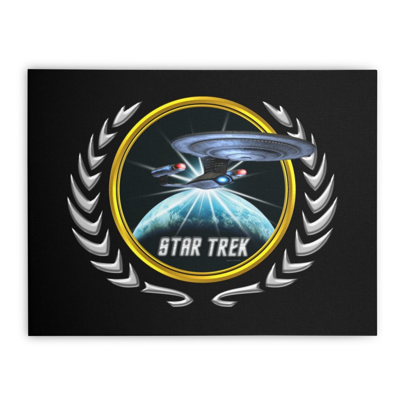 Star trek Federation of Planets Enterprise D 2 Home Stretched Canvas by ratherkool's Artist Shop