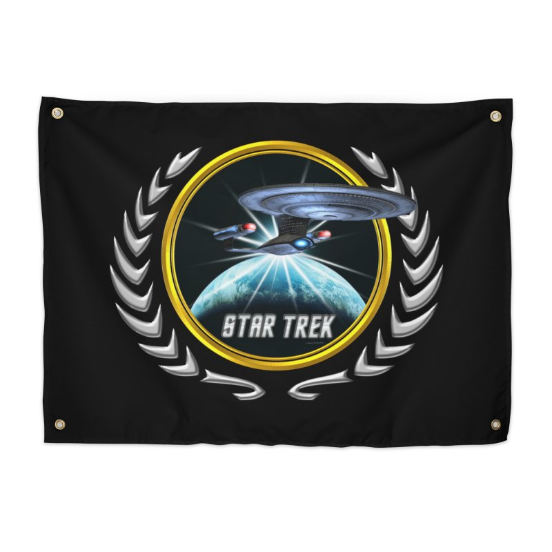 Star trek Federation of Planets Enterprise D 2 Home Tapestry by ratherkool's Artist Shop
