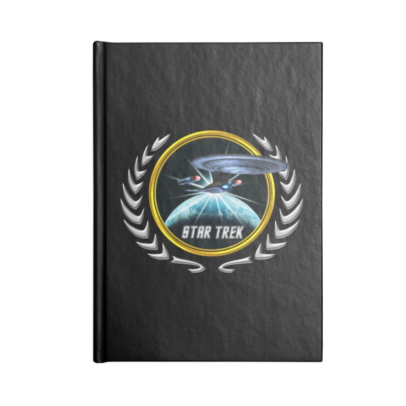 Star trek Federation of Planets Enterprise D 2 Accessories Notebook by ratherkool's Artist Shop