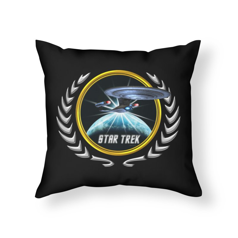 Star trek Federation of Planets Enterprise D 2 Home Throw Pillow by ratherkool's Artist Shop
