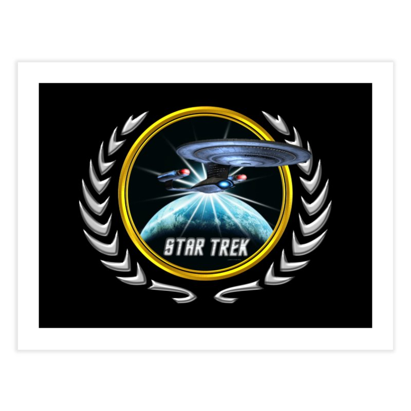 Star trek Federation of Planets Enterprise D 2 Home Fine Art Print by ratherkool's Artist Shop