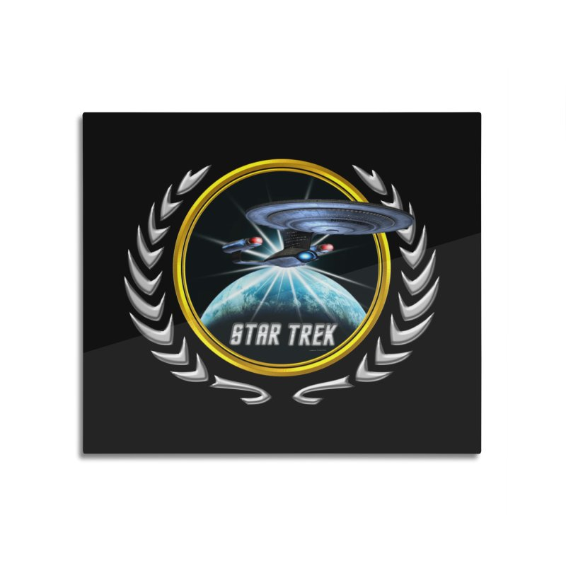 Star trek Federation of Planets Enterprise D 2 Home Mounted Aluminum Print by ratherkool's Artist Shop