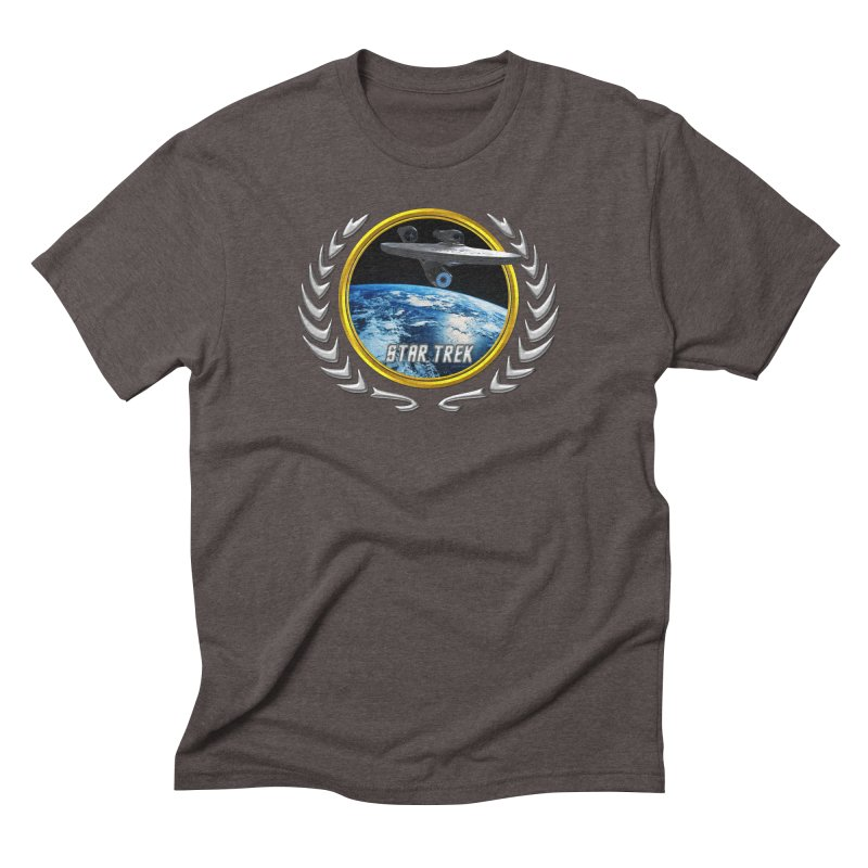 Star trek Federation of Planets Enterprise 2009 Men's Triblend T-Shirt by ratherkool's Artist Shop