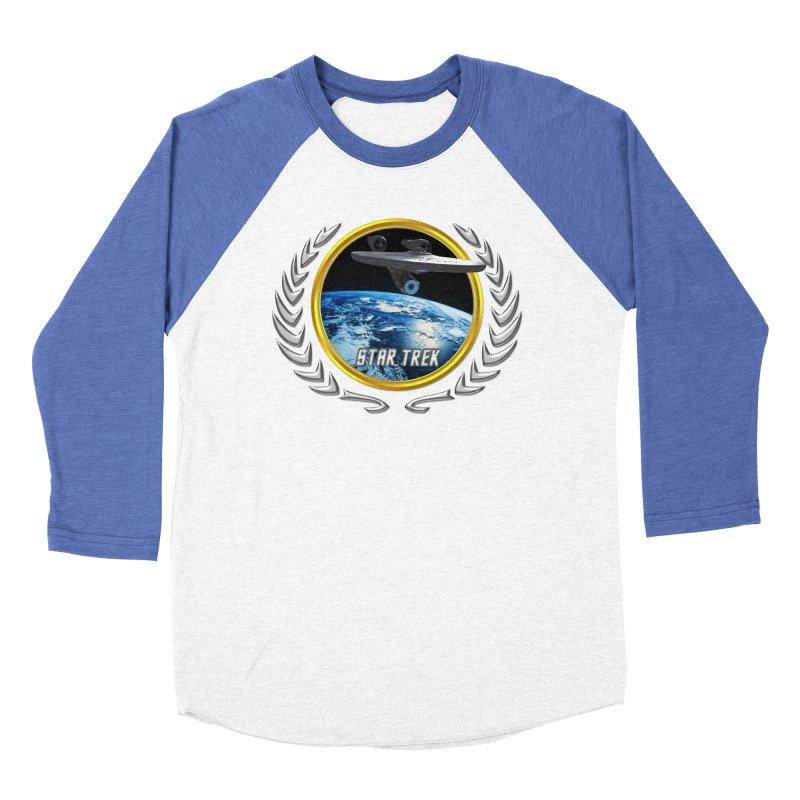 Star trek Federation of Planets Enterprise 2009 Men's Baseball Triblend T-Shirt by ratherkool's Artist Shop