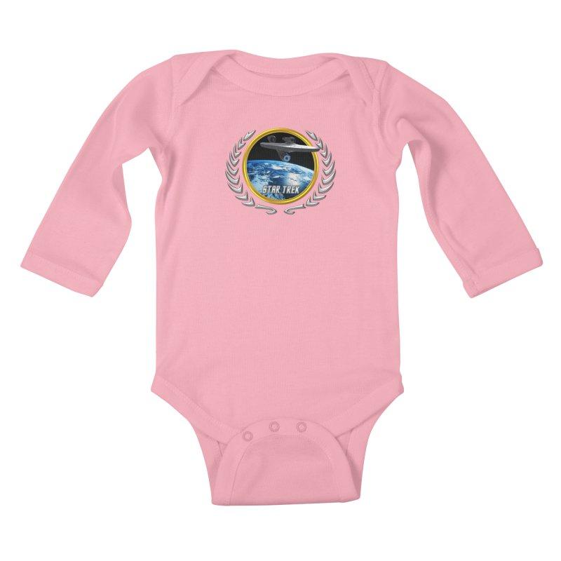 Star trek Federation of Planets Enterprise 2009 Kids Baby Longsleeve Bodysuit by ratherkool's Artist Shop