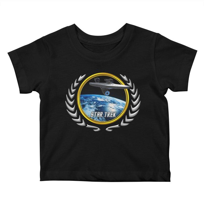 Star trek Federation of Planets Enterprise 2009 Kids Baby T-Shirt by ratherkool's Artist Shop
