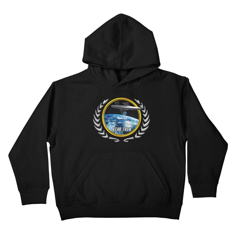 Star trek Federation of Planets Enterprise 2009 Kids Pullover Hoody by ratherkool's Artist Shop