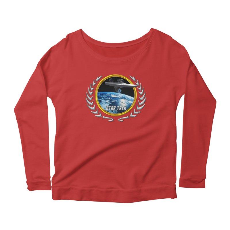Star trek Federation of Planets Enterprise 2009 Women's Longsleeve Scoopneck  by ratherkool's Artist Shop