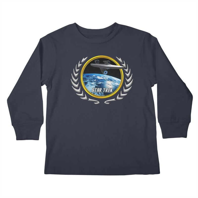 Star trek Federation of Planets Enterprise 2009 Kids Longsleeve T-Shirt by ratherkool's Artist Shop