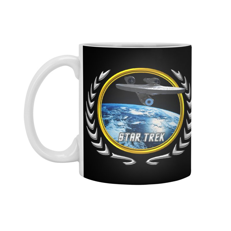 Star trek Federation of Planets Enterprise 2009 Accessories Mug by ratherkool's Artist Shop