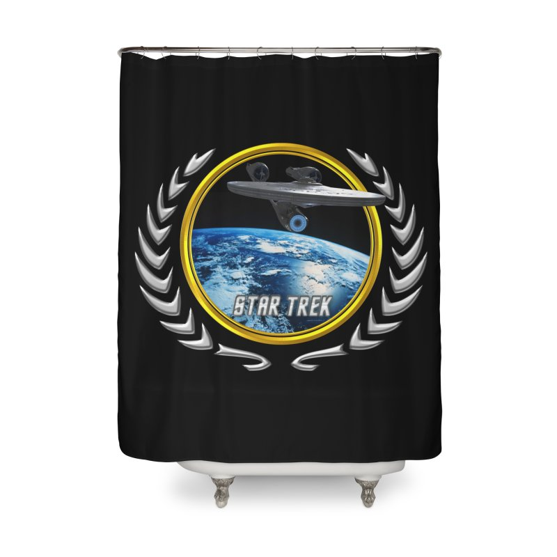 Star trek Federation of Planets Enterprise 2009 Home Shower Curtain by ratherkool's Artist Shop