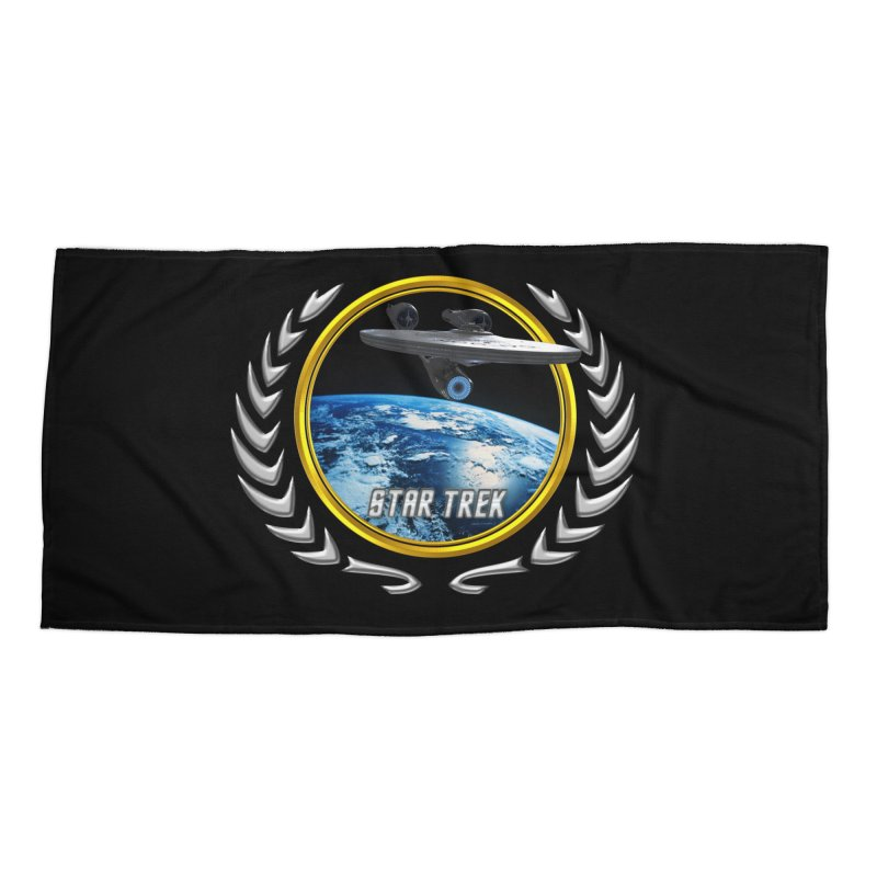 Star trek Federation of Planets Enterprise 2009 Accessories Beach Towel by ratherkool's Artist Shop