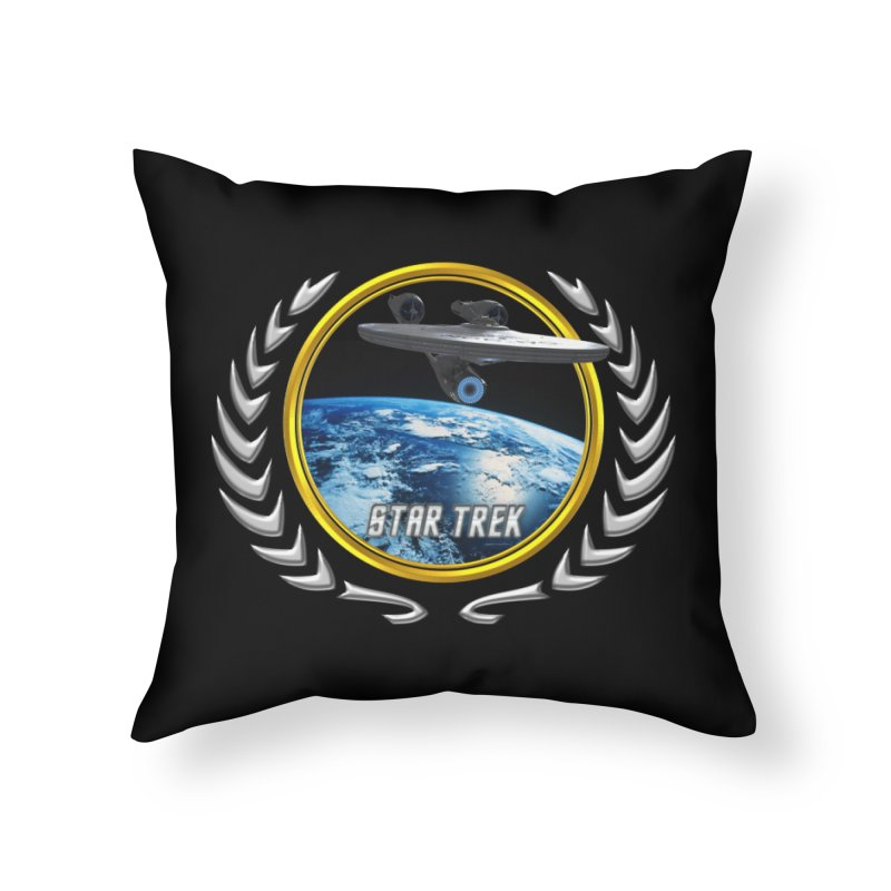 Star trek Federation of Planets Enterprise 2009 Home Throw Pillow by ratherkool's Artist Shop