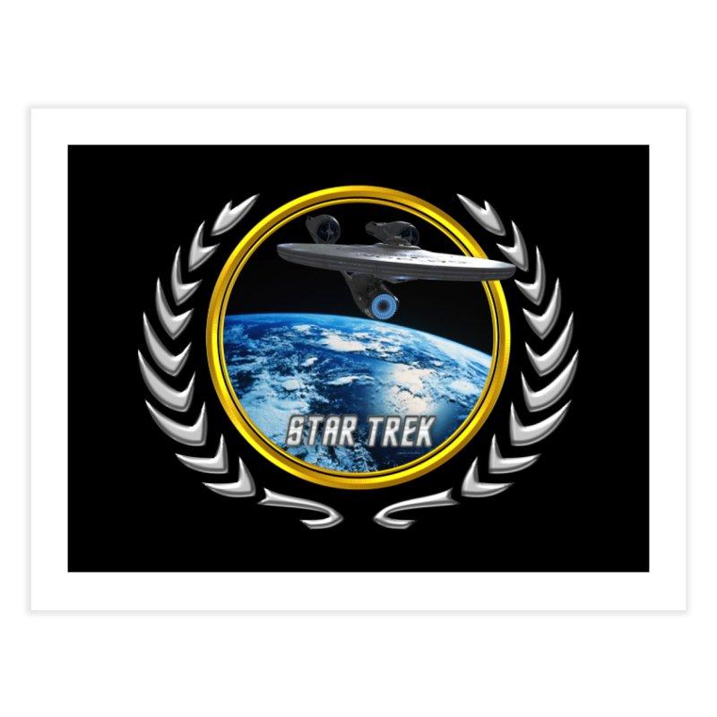 Star trek Federation of Planets Enterprise 2009 Home Fine Art Print by ratherkool's Artist Shop