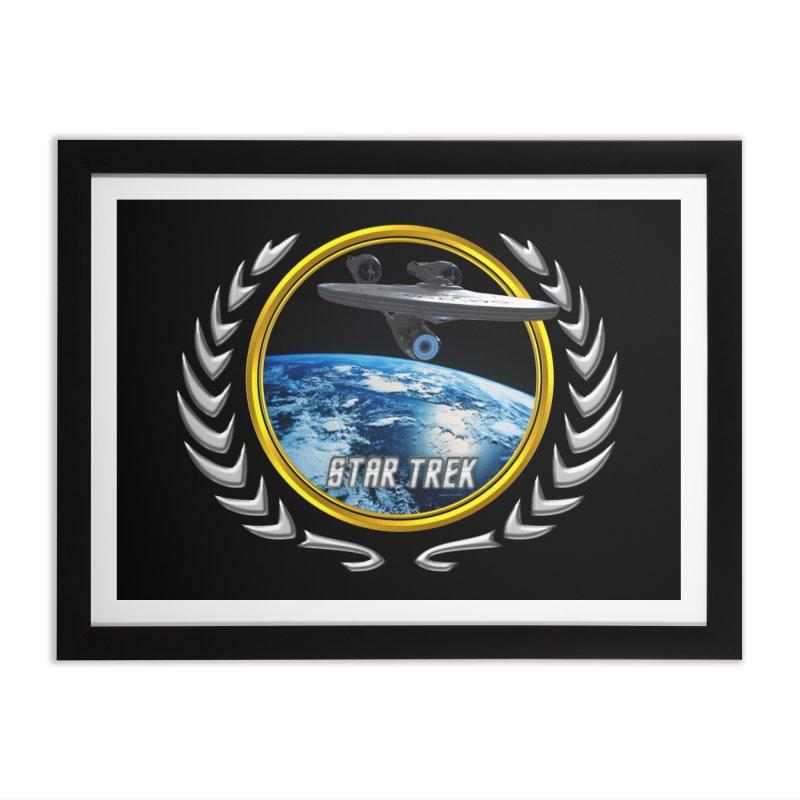 Star trek Federation of Planets Enterprise 2009 Home Framed Fine Art Print by ratherkool's Artist Shop