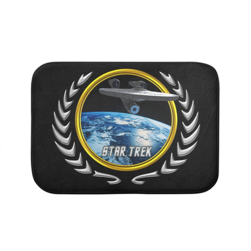 Star trek Federation of Planets Enterprise 2009 Home Bath Mat by ratherkool's Artist Shop