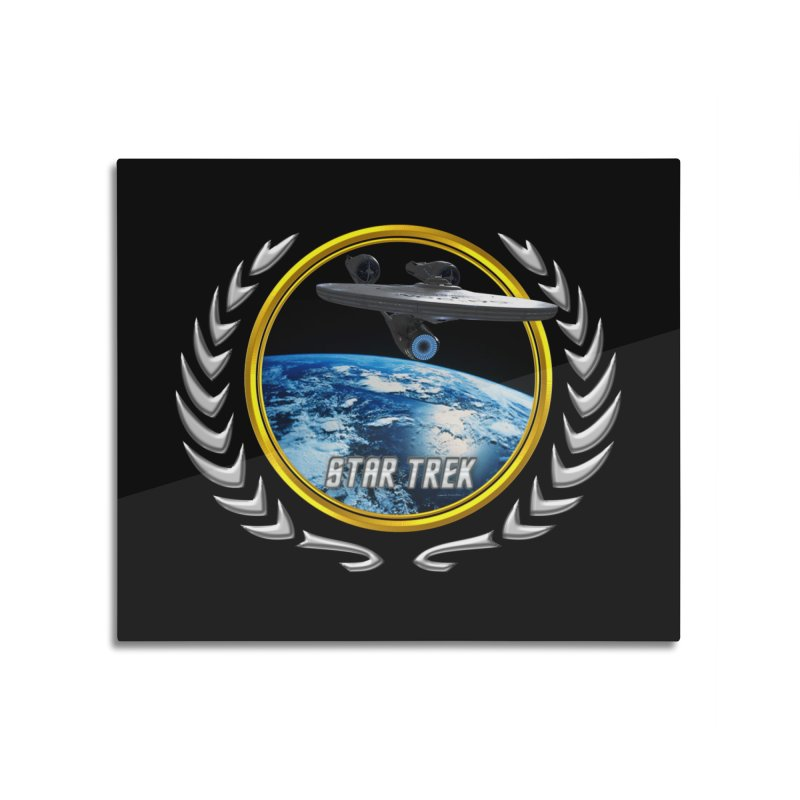 Star trek Federation of Planets Enterprise 2009 Home Mounted Aluminum Print by ratherkool's Artist Shop