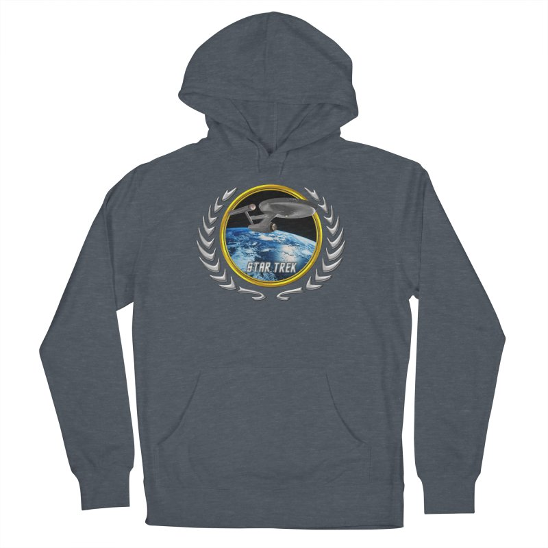 Star trek Federation of Planets Enterprise 1701 old Women's Pullover Hoody by ratherkool's Artist Shop