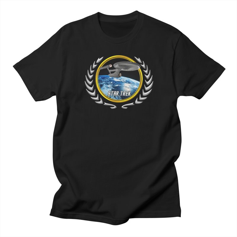Star trek Federation of Planets Enterprise 1701 old Men's T-Shirt by ratherkool's Artist Shop