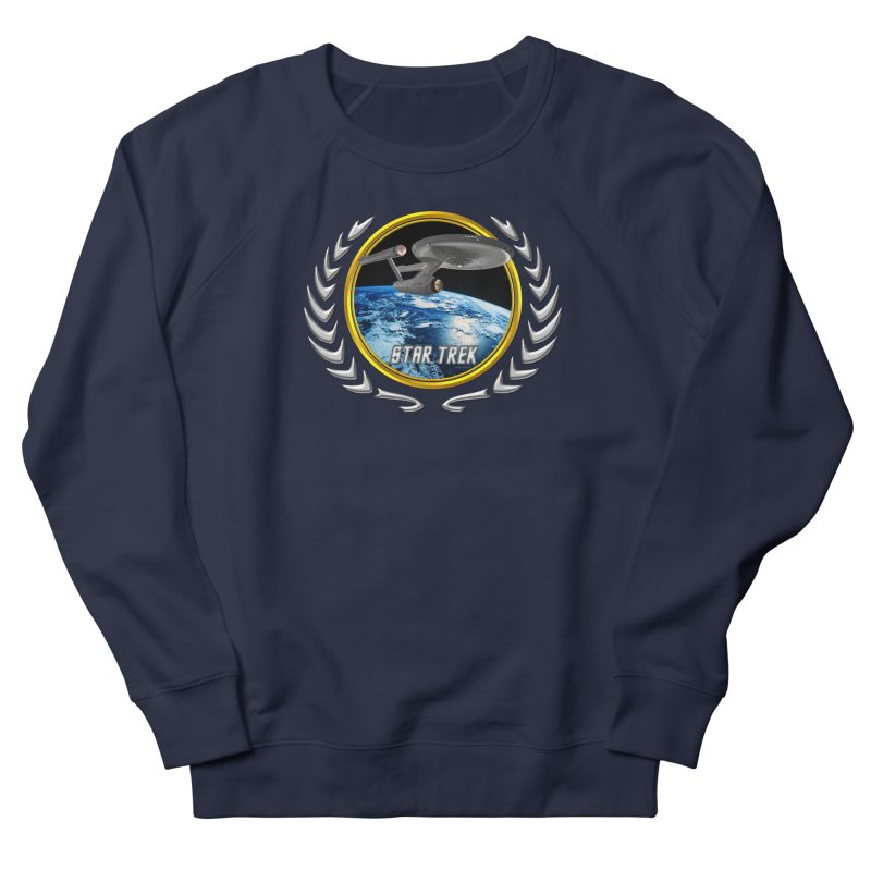 Star trek Federation of Planets Enterprise 1701 old Women's Sweatshirt by ratherkool's Artist Shop