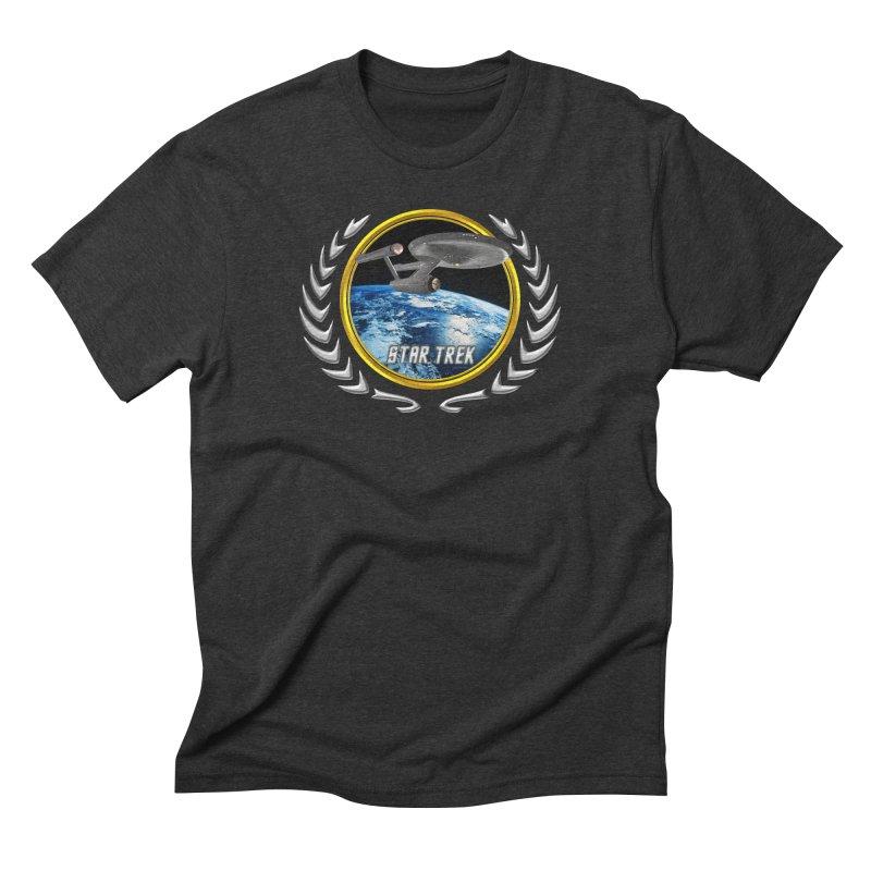 Star trek Federation of Planets Enterprise 1701 old Men's Triblend T-Shirt by ratherkool's Artist Shop