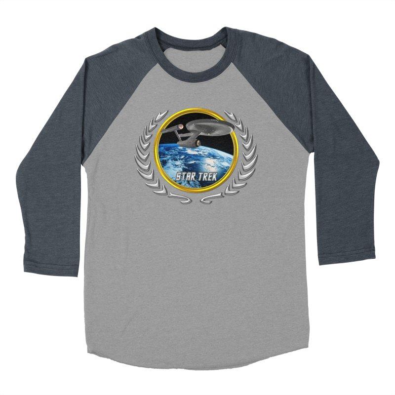 Star trek Federation of Planets Enterprise 1701 old Women's Baseball Triblend T-Shirt by ratherkool's Artist Shop