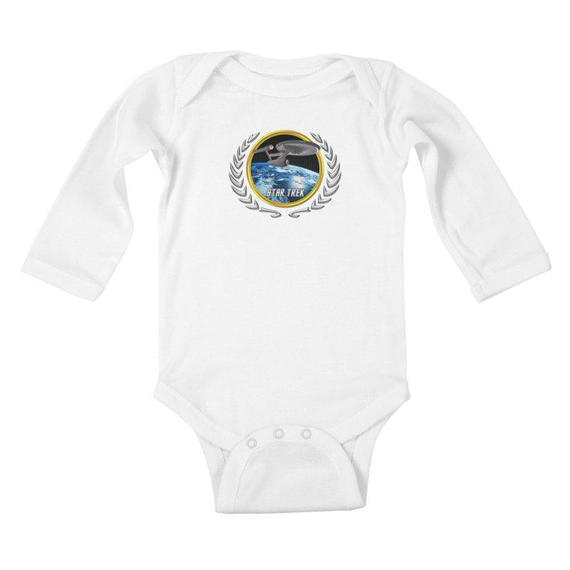 Star trek Federation of Planets Enterprise 1701 old Kids Baby Longsleeve Bodysuit by ratherkool's Artist Shop