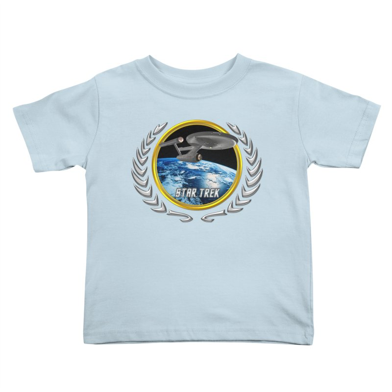 Star trek Federation of Planets Enterprise 1701 old Kids Toddler T-Shirt by ratherkool's Artist Shop
