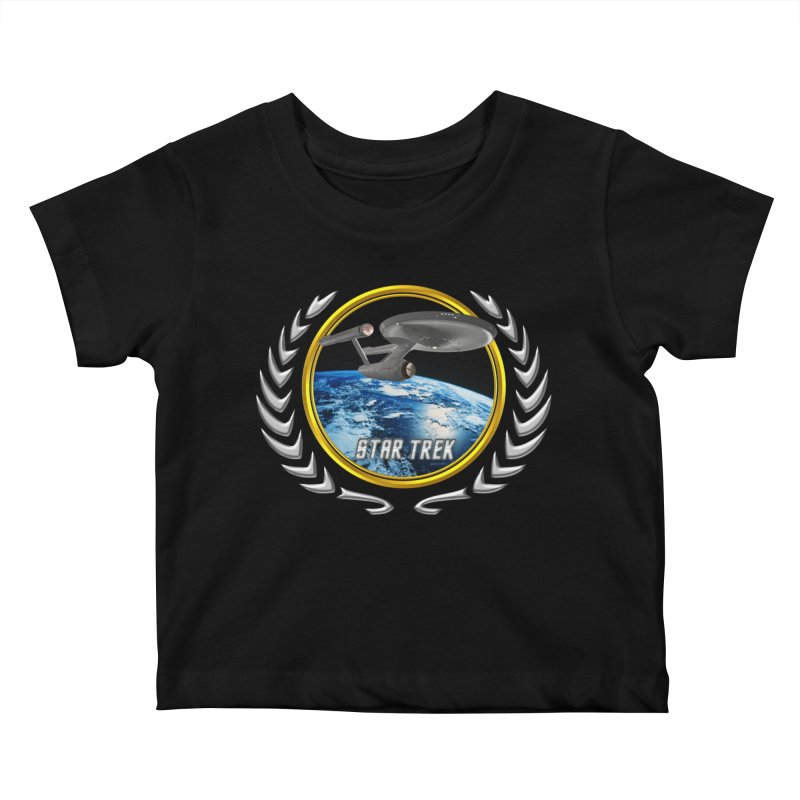 Star trek Federation of Planets Enterprise 1701 old Kids Baby T-Shirt by ratherkool's Artist Shop