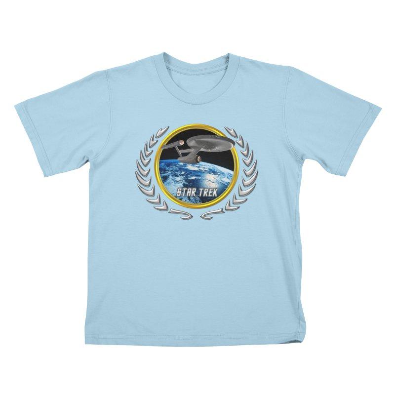 Star trek Federation of Planets Enterprise 1701 old Kids T-Shirt by ratherkool's Artist Shop