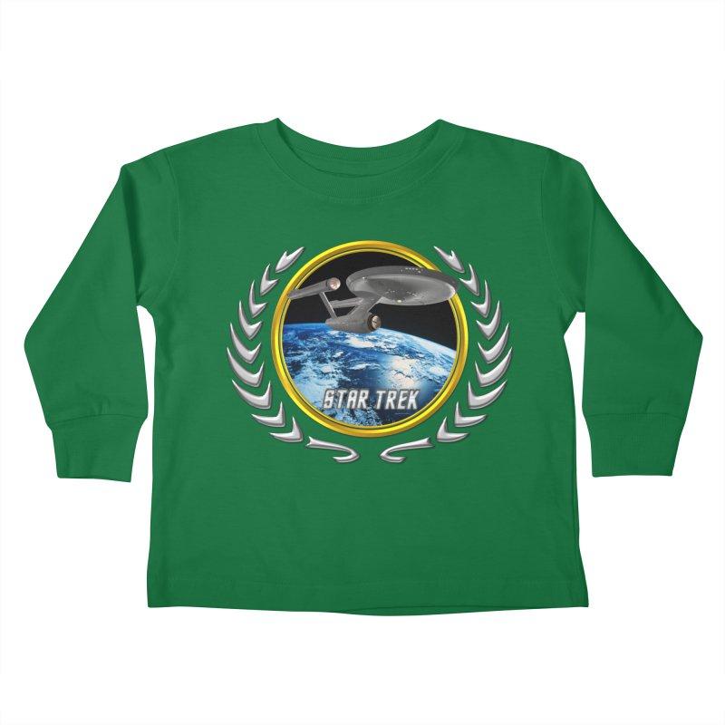 Star trek Federation of Planets Enterprise 1701 old Kids Toddler Longsleeve T-Shirt by ratherkool's Artist Shop