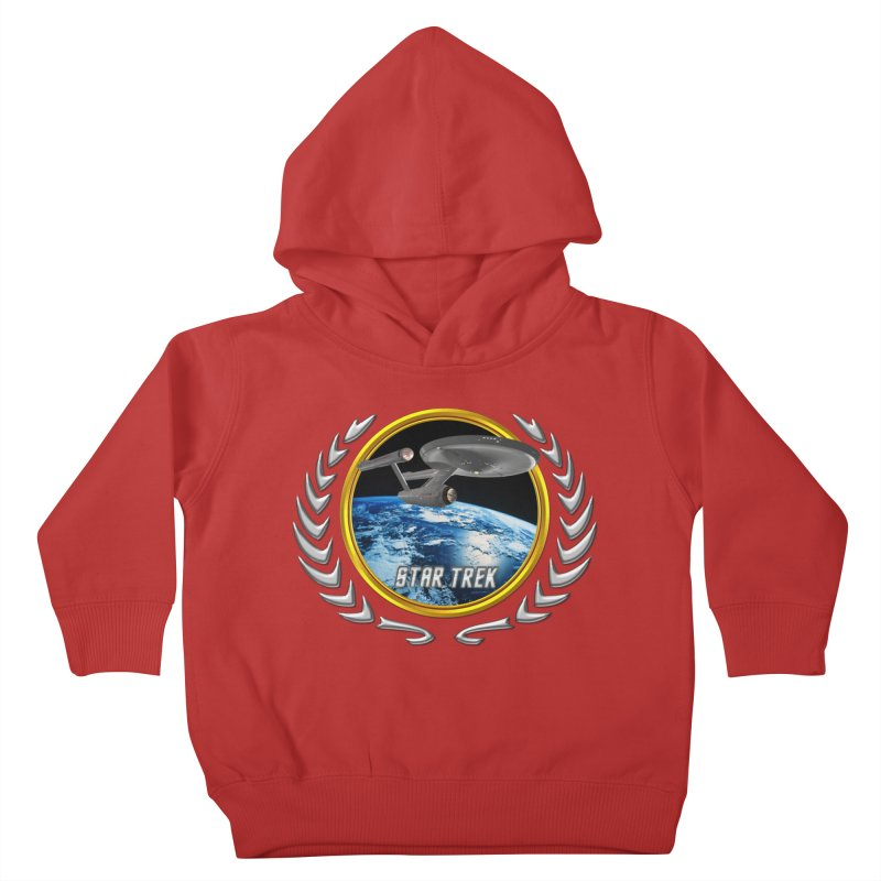 Star trek Federation of Planets Enterprise 1701 old Kids Toddler Pullover Hoody by ratherkool's Artist Shop