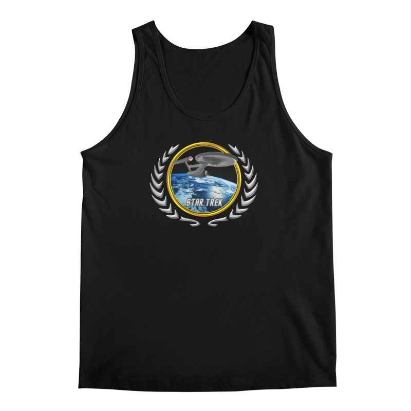 Star trek Federation of Planets Enterprise 1701 old Men's Tank by ratherkool's Artist Shop