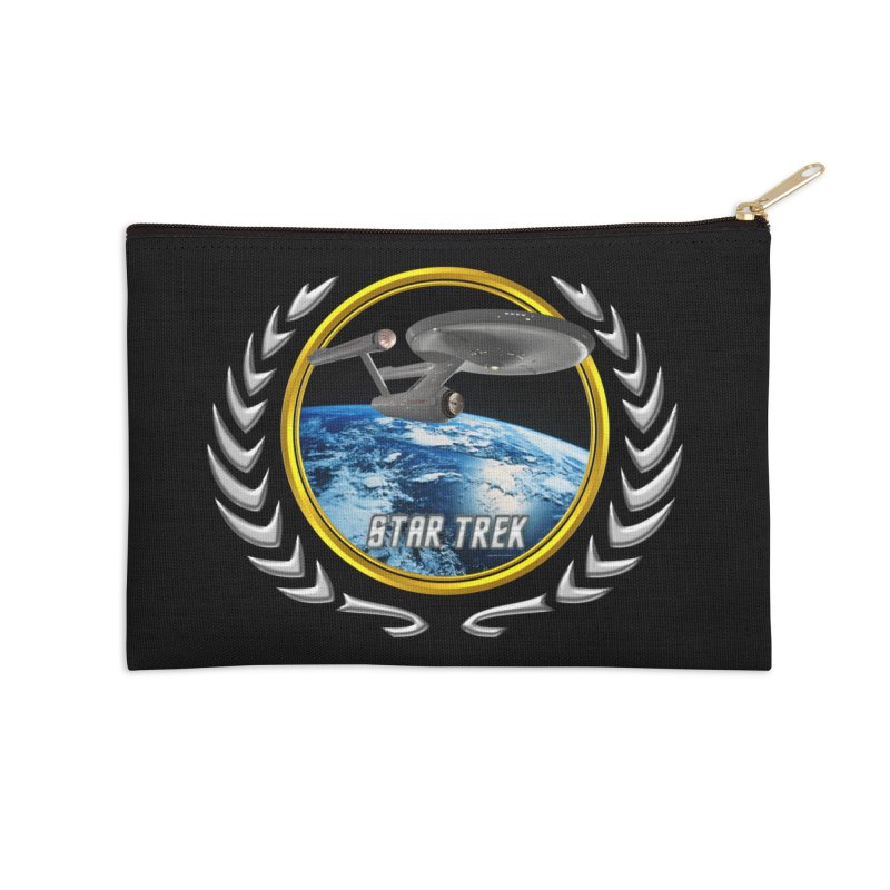 Star trek Federation of Planets Enterprise 1701 old Accessories Zip Pouch by ratherkool's Artist Shop