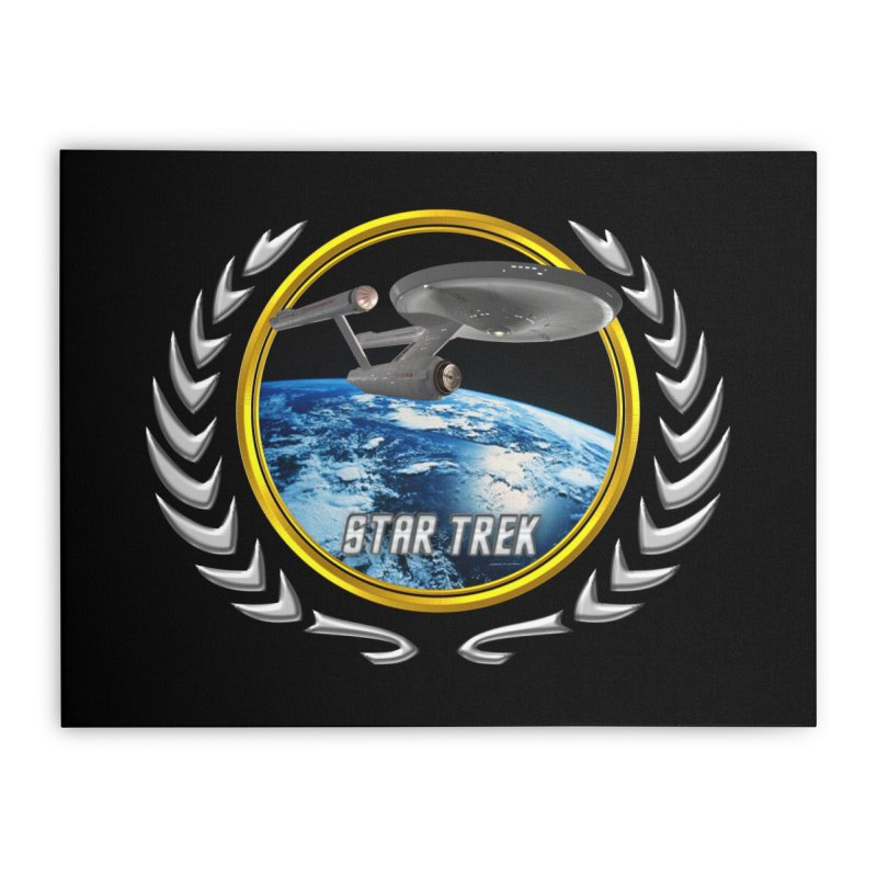 Star trek Federation of Planets Enterprise 1701 old Home Stretched Canvas by ratherkool's Artist Shop